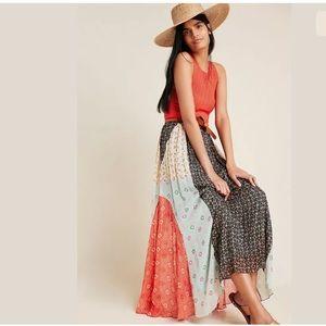 Anthropologie New Margot Pleated Maxi Skirt Size 4